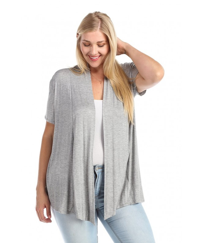 Zenana Womens Short Sleeve Cardigan