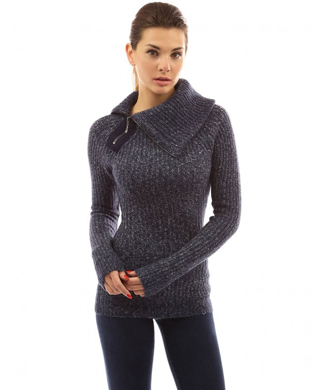 PattyBoutik Womens Asymmetric Sweater Heather