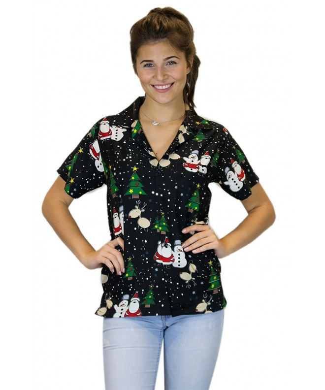 King Kameha Hawaiian Blouse Christmas