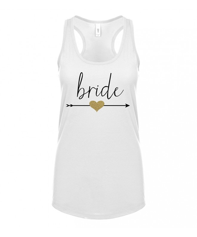 Glitter Heart Bride Arrow Tank