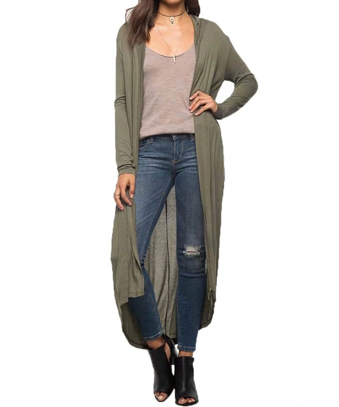 Womens Hooded Lightweight Sweater Cardigan