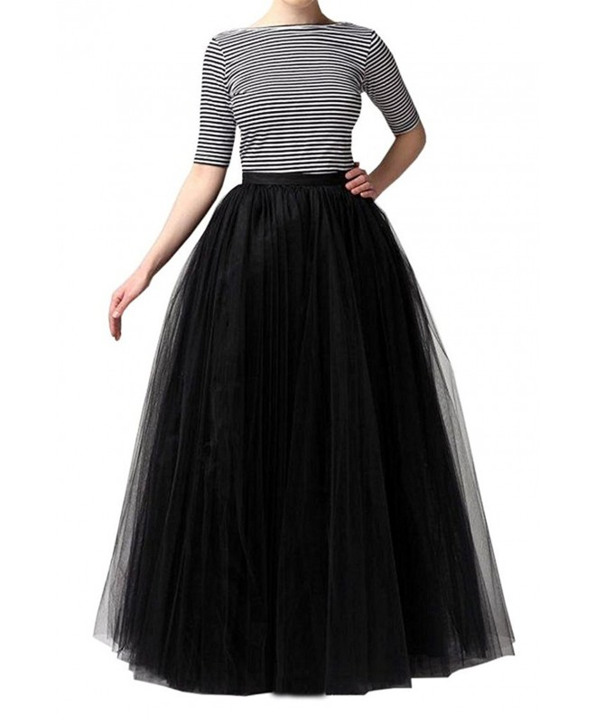 Omelas Women Tulle Length Skirts
