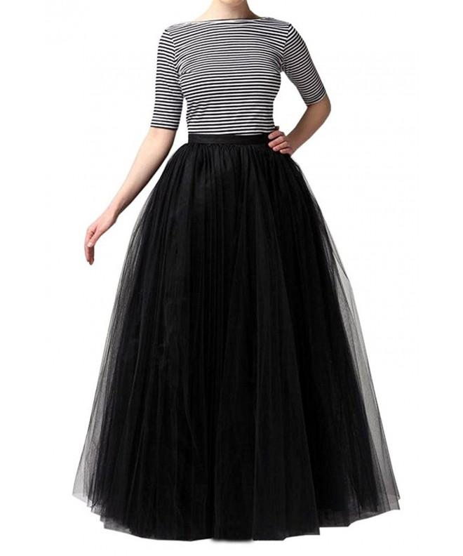 Omelas Women Tulle Length Skirts