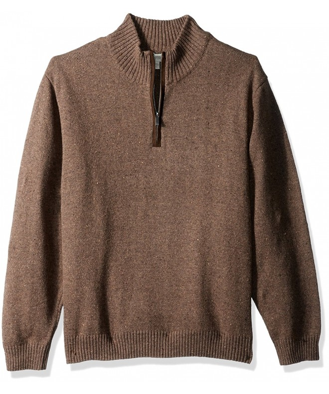 Haggar Sweater Patches Walnut Heather