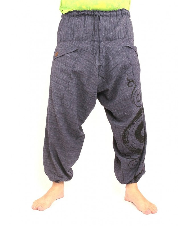 Harem Sarouel Pants Swirl Cotton