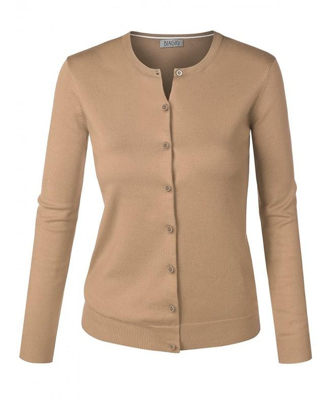 BIADANI Button Classic Cardigan Sweater