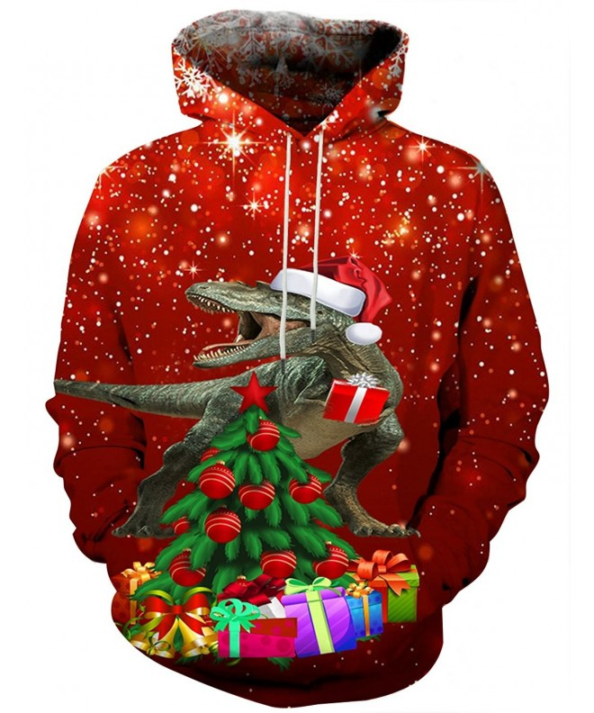 Hgvoetty Hoodies Tops Drawstring Christmas Sweatshirt