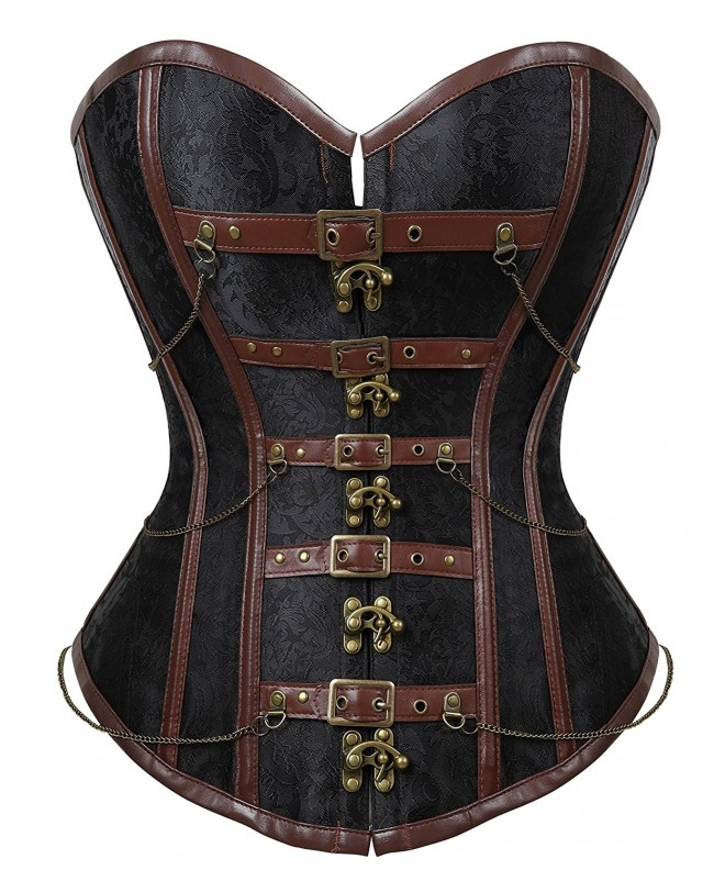 Womens Steampunk Brocade Bustiers 2XL