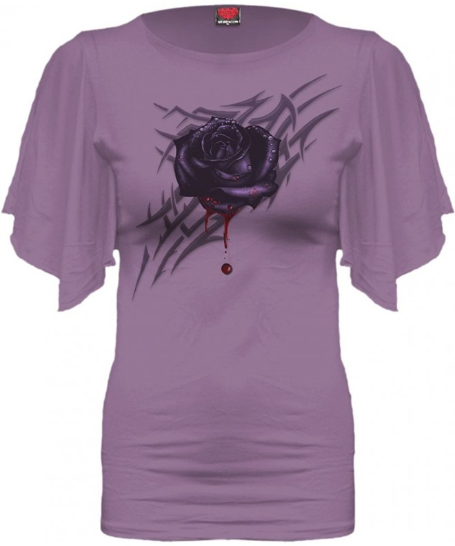 Spiral Womens Black Sleeve Purple