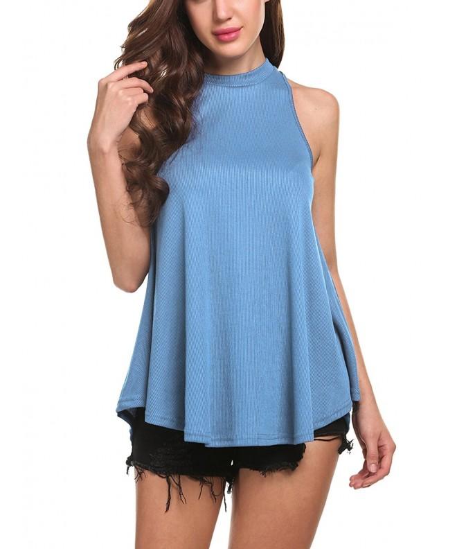 Zeagoo Womens T Shirt Loose Sleeveless Blouse