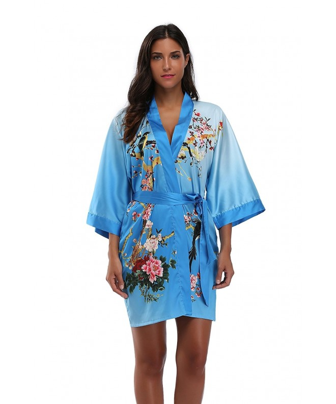 Luvrobes Womens Watercolor Floral Kimono