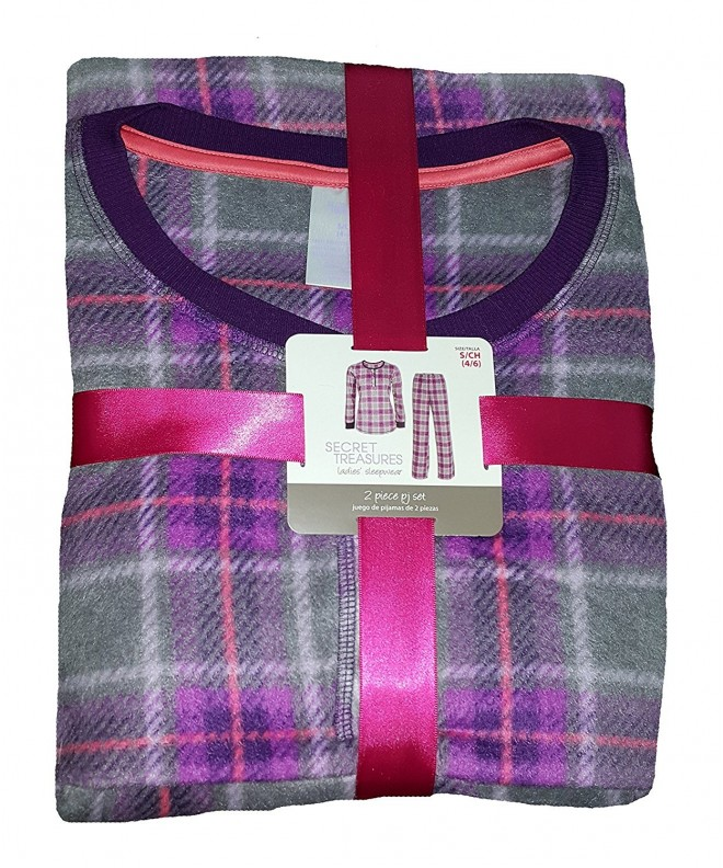 Purple Plaid Design Bottoms Pajama