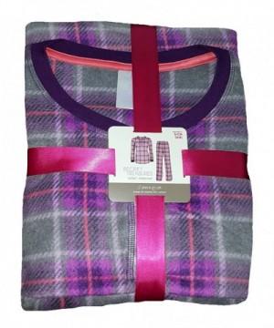 Purple Plaid Design Bottoms Pajama