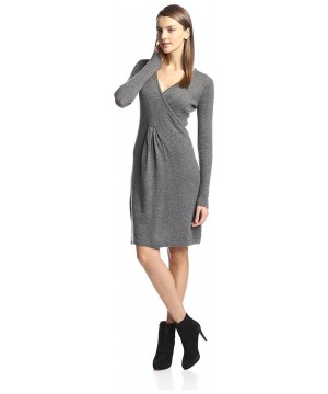 Cashmere Addiction Surplice Sweater Heather
