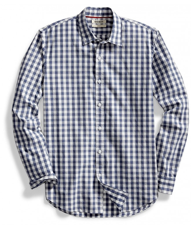 Goodthreads Standard Fit Long Sleeve Large Scale Gingham