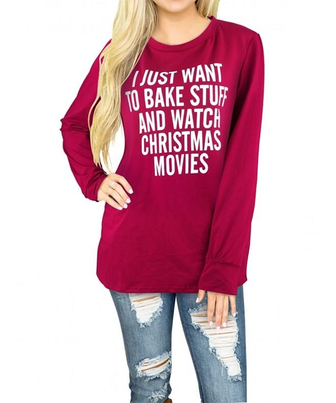 STYLEWORD Womens Printed Christmas T Shirt