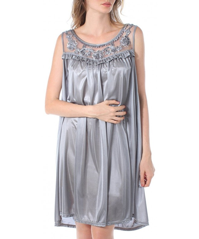 Venice Looking Nightgown 4X Large Charcoal