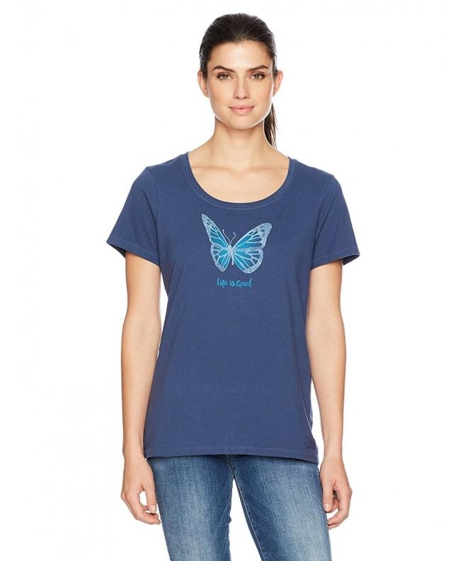 Life Crusher Butterfly T Shirt Darkest