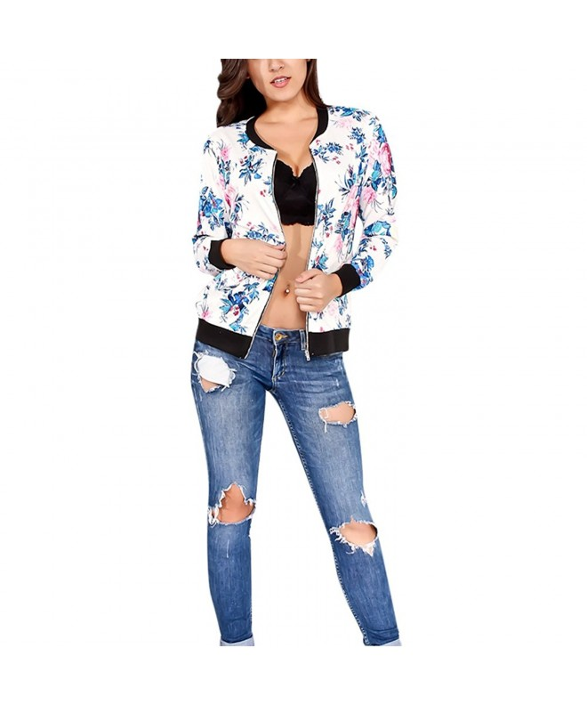 Womens Classic Zipper Floral Printed