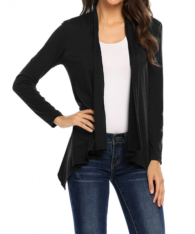 ELESOL Womens Sleeve Cardigan Black