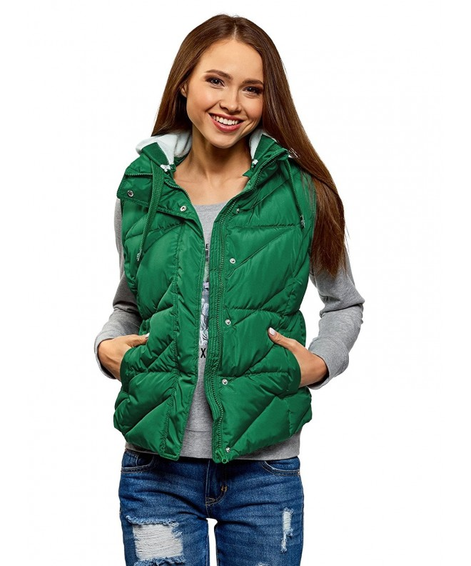 oodji Ultra Womens Hooded Quilted