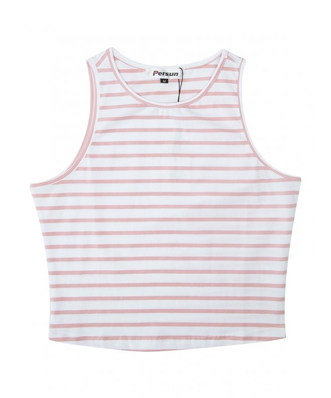 PERSUN Womens Summer Basic Striped