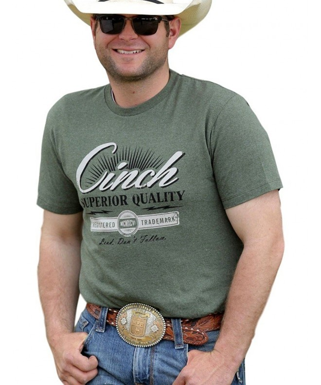 Cinch Apparel Mens Heather Green