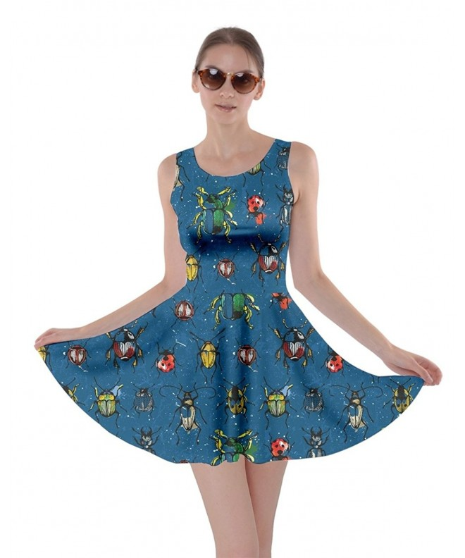 CowCow Womens Pattern Watercolor Beetles
