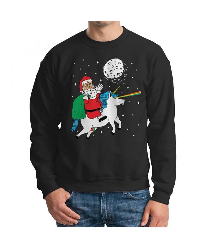 Mens Santa Riding Unicorn Sweatshirt