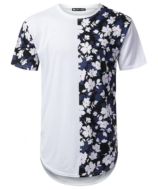 URBANTOPS Hipster Floral Longline T shirt