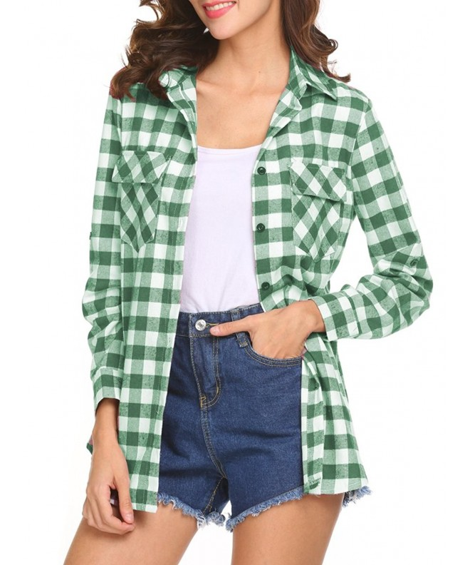 Womens Casual Boyfriend Flannel X Large