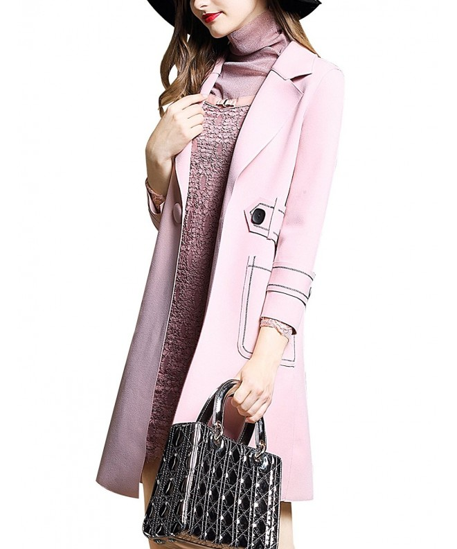 DanMunier Womens Trench Notched Closure