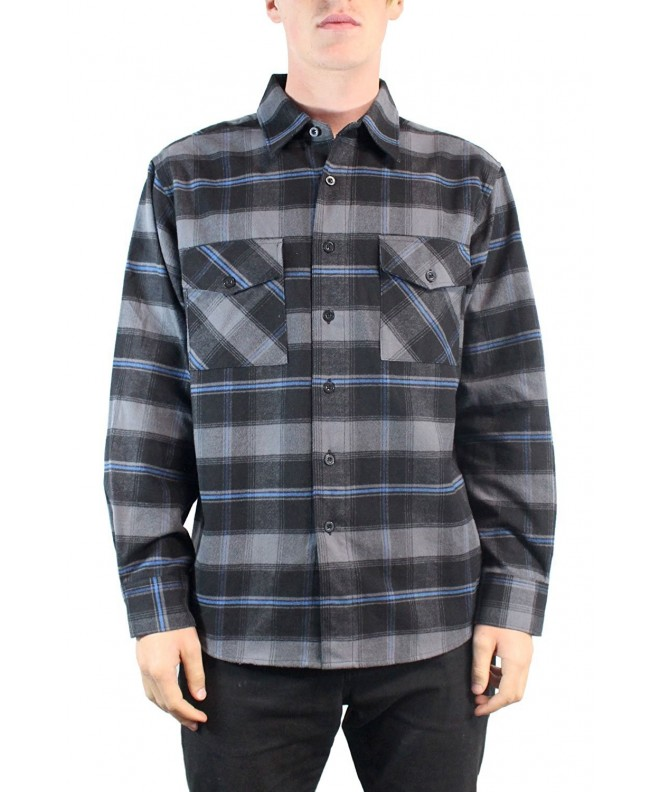 YAGO Flannel Sleeve Plaid Button