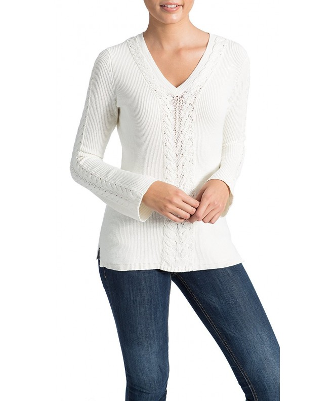89th Madison Detail V Neck Sweater