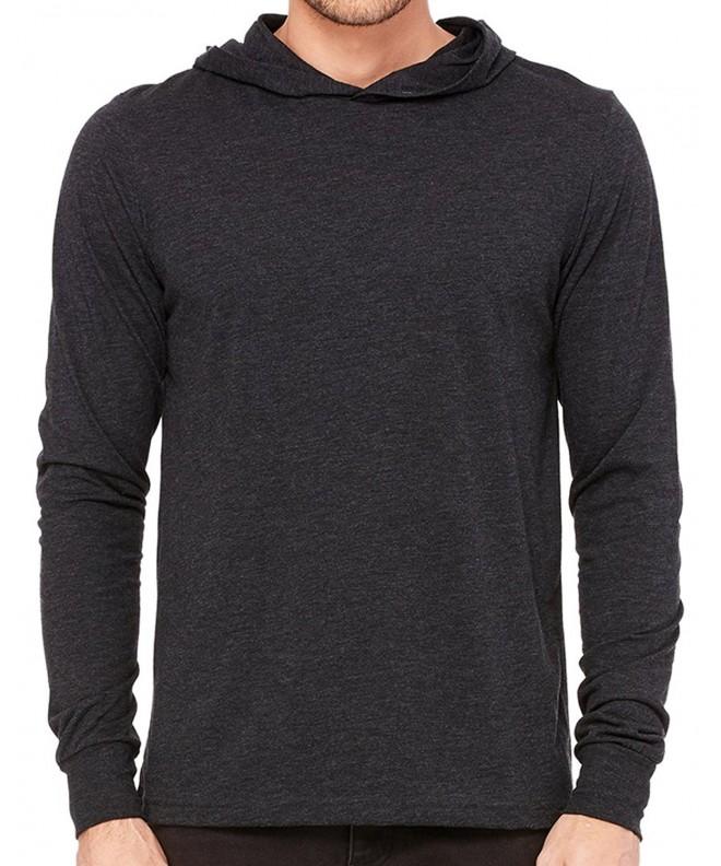 Lightweight Sleeve Hoodie Charcoal Triblend
