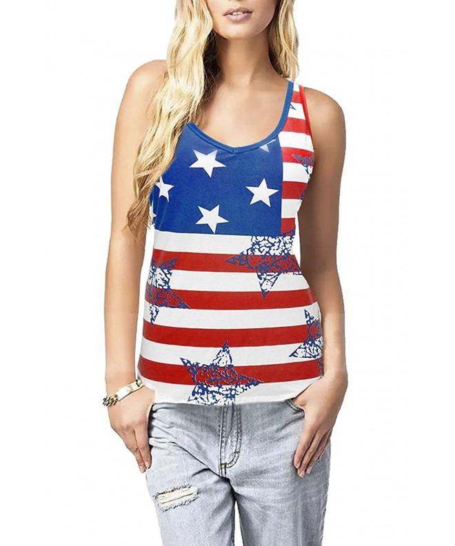 Walant American Printed Striped Sleeveless