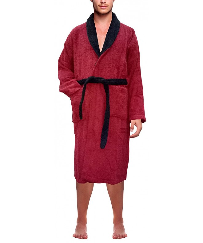 SKYLINEWEARS Cotton Bathrobe Toweling Maroon