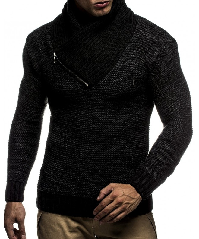 Leif Nelson Pullover LN7060 Black Anthracite