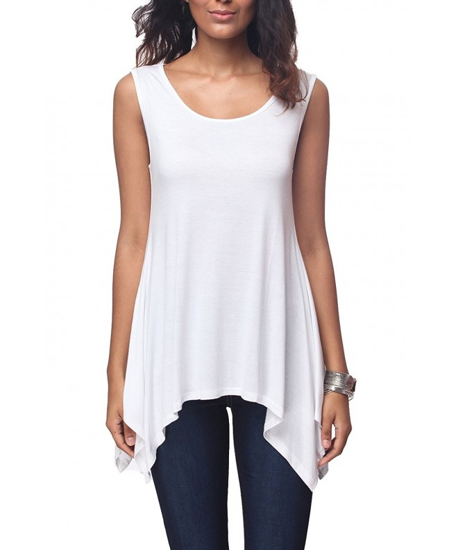 iGENJUN Womens Scoop Summer Sleeveless