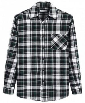 Esenchel Sleeve Plaid Cotton Flannel