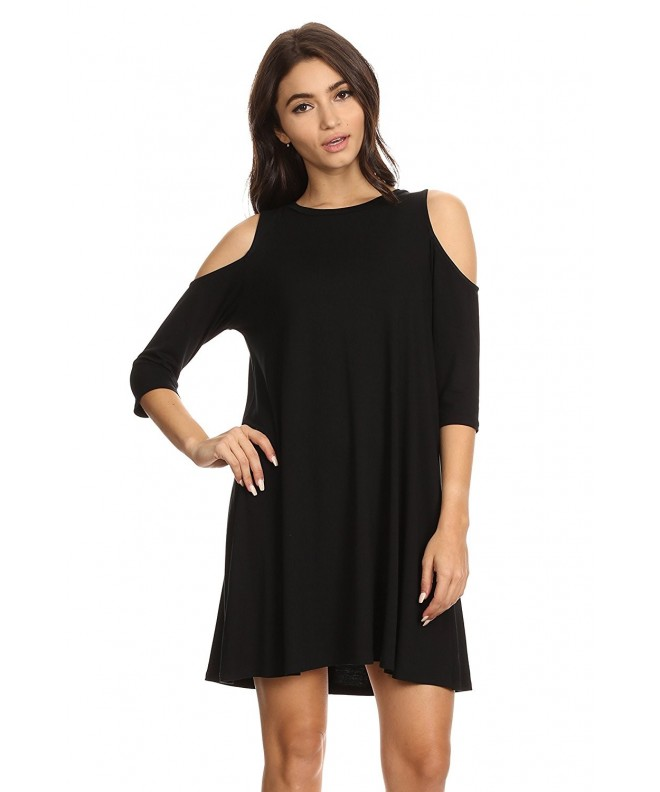 Womens Sleeve Black Swing Shoulder