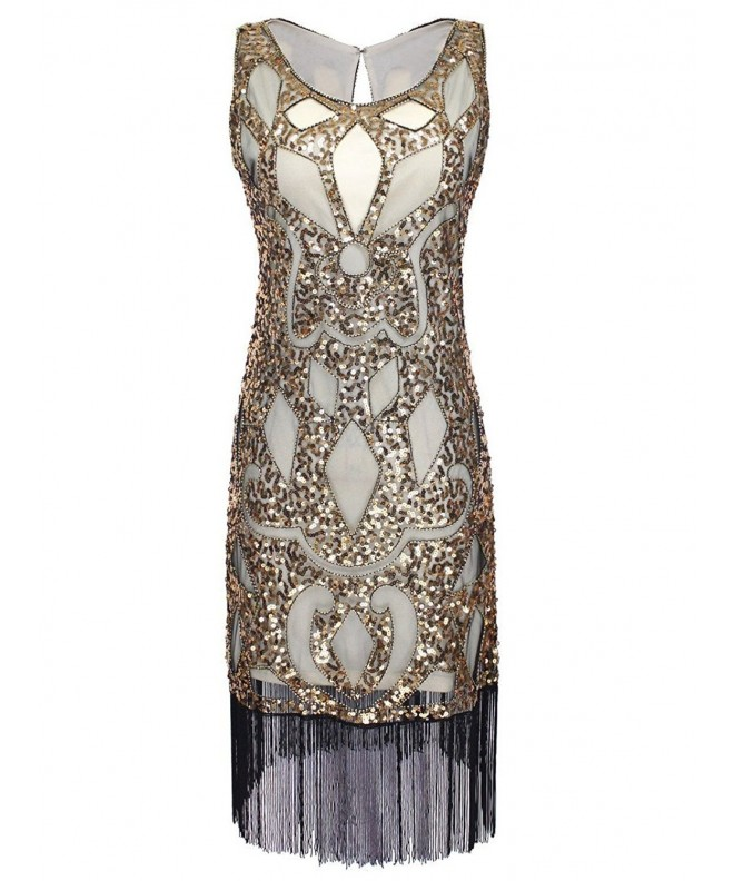 Vijiv Sequined Embellishment Paisley Flapper