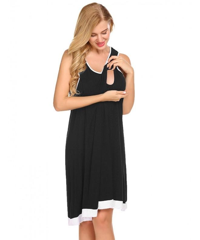 Lamore Womens Breastfeeding Nightgown S XXL