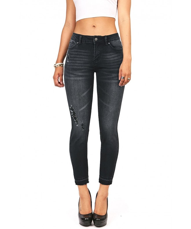 Wax Denim Womens Juniors Ankle
