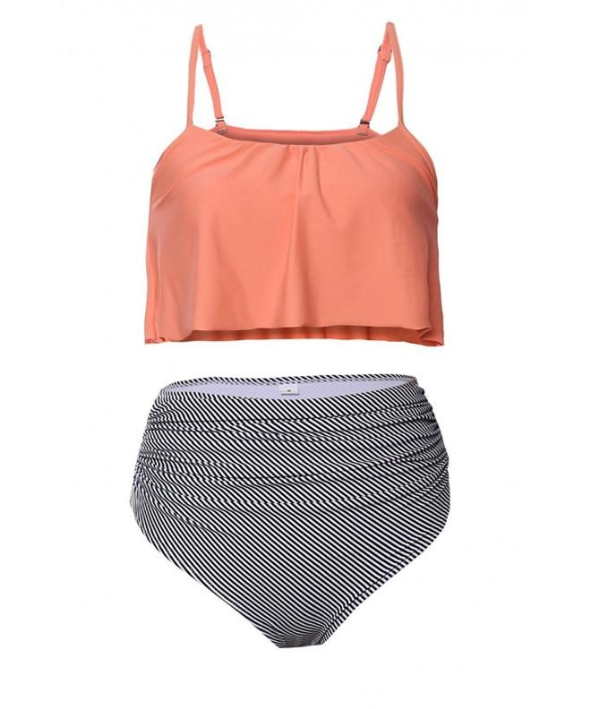 Womens Flounce Falbala Bikini Swimsuit