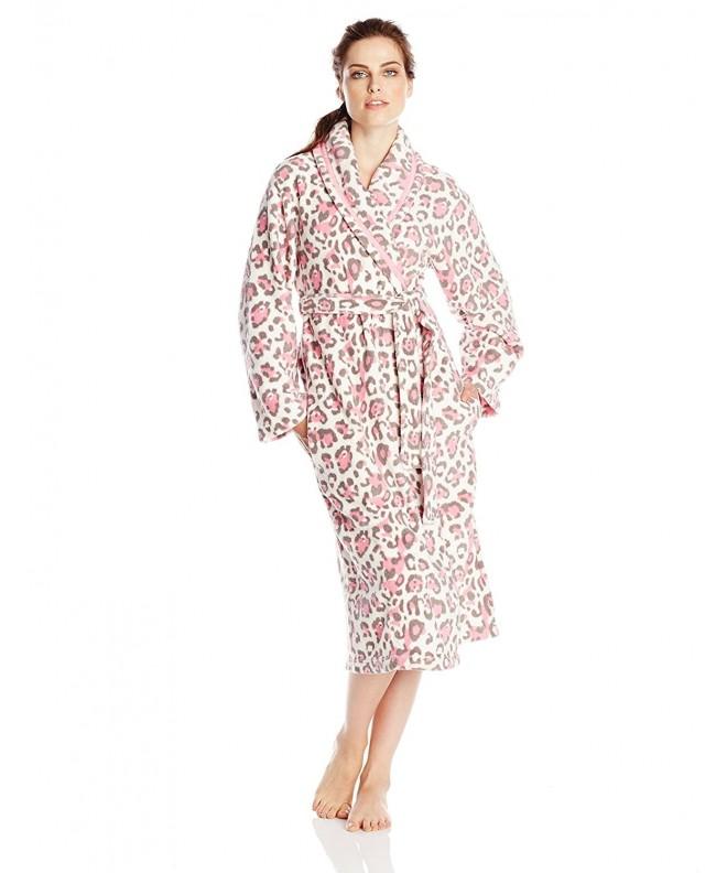 Dearfoams Womens Fleece Leopard X Large