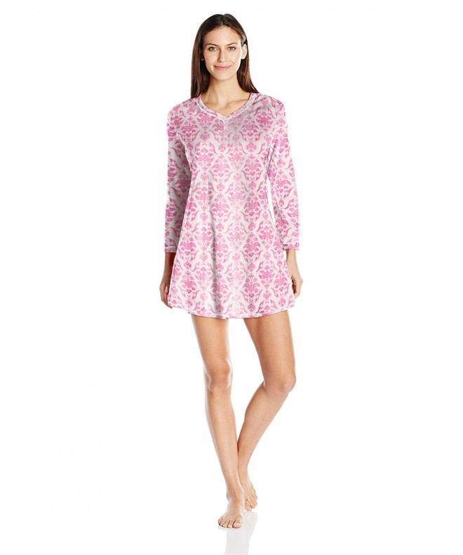 Karen Neuburger Womens Sleeve Nightshirt