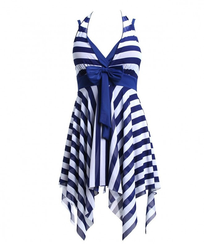 BIKMAN White Stripes Swimwear Swimsuit