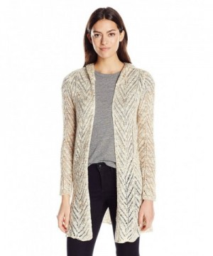 OneWorld Womens Pointelle Sweater Natural
