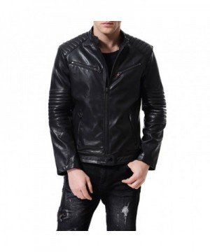 AOWOFS Leather Jacket Motor Embossed